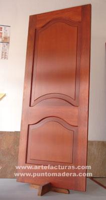 Artefacturas puertas en madera solida for Puertas de madera para dormitorios